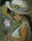 Girl With Flowers 1953